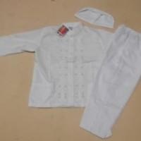 Jual Baju Muslim |Baju Koko  Anak Laki laki Warna Putih  4, 5 Tahun Murah