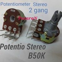 Potentiometer B50K STEREO 2-gang Potentio - Variable Resistor B 50K