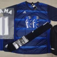 harga Setelan baju Futsal Bola Adidas Printing AD11 Navy Biru Tokopedia.com