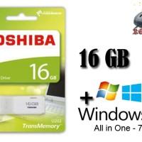 Windows AIO (7,8.1,10) 32 & 64 Bit Flashdisk Toshiba 16GB