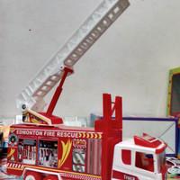 harga mainan anak fire truck edmonton fire rescue (white red ) Tokopedia.com