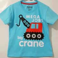 Kaos Karakter Anak Big Crane Biru Muda 1 Sd 6 Thn