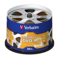 Verbatim 4.7 GB Digital Movie Disc DVD-R - 50 Disc Spindle 62244