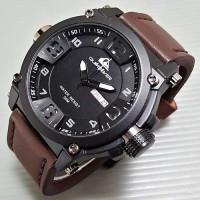 Jam Tangan Merk Quicksilver Dark Brown Murah Premium Branded Promo