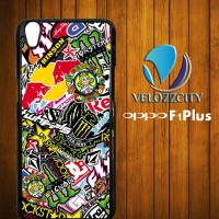 Custom Casing HP Oppo F1 Plus Sticke Bomb Z3809 Case, Hardcase