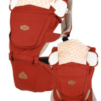 Gendongan Bayi (Baby Carrier) i-Angel HipSeat Rainbow Solid ORANGE RED