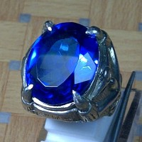 Cincin Batu Permata Natural Blue Obsidian