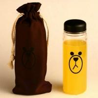 Botol Minum Plastik Bening Line Character Sally & Brown 500ml