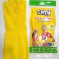 sarung tangan karet glove kuning sensi latex cuci piring kualitas