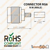 KONEKTOR CONNECTOR RG6 N M (MALE)
