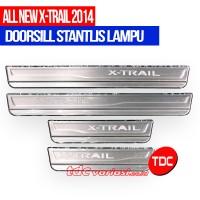 harga Sill Plate stainless Pakai Lampu  Nissan X-Trail 2014 Variasi Tokopedia.com