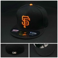harga TOPI FITTED MLB SF GIANTS HITAM LOGO ORANGE Tokopedia.com