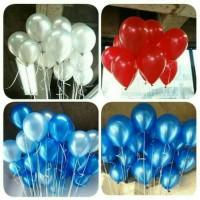 Jual balon latex metalic warna merah Murah