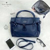 Tas wanita cewek branded fashion handbag Katespade KS Cobble Leslie