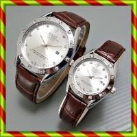Rolex Couple Kulit Tanggal Coklatpth | Jam Tangan Pasangan Swiss Army