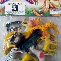 Mainan Edukasi Binatang Hewan Liar Animal wild Karet