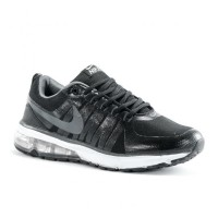 Sepatu Running Nike Flywire Air Max Hitam Abu