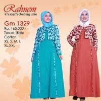 Gamis Muslim GM 1329 Bahan Katun Combed