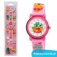 Linkgraphix KT25 BALLET - Jam Tangan Anak Cewek Girls Kids Watch PINK