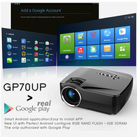 Jual LED MINI Proyektor GP70-UP with built-in ANDROID (Gholic) Murah