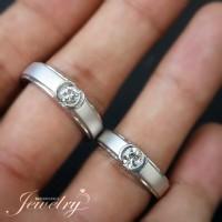 Sepasang Cincin BERLIAN 0,30 Ct Natural Diamond Ring Emas 40%