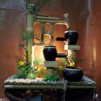 Miniatur Air Mancur Bambu Hias @ kendi 3