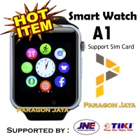 SMART WATCH A1 / SMARTWATCH U10 Hitam Black SIMCARD MICRO MEMORY CARD