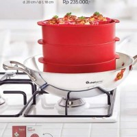 Jual Tupperware Cherry Steam It Susun 3 (Alat Kukusan) Murah