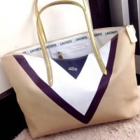 Tas Wanita LACOSTE Canvas Tote Bag #V801