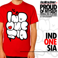 Jual Kaos Distro Indonesia - Red Indonesia Murah