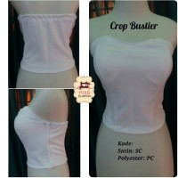 bustier model crop bahan polyester