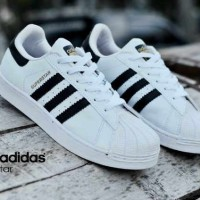 SEPATU ADIDAS SUPERSTAR UNISEX PUTIH HITAM MADE IN VIETNAM 100% IMPORT