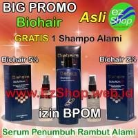 Paket PROMO 2 Bio Hair Solution Gratis Shampo Serum Penumbuh Rambut