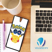 Custom Casing HP Sony Xperia C, C3, C4, C5 Pokemon Go Tribal Pikachu Z