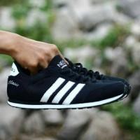 Sepatu Sport Casual Adidas Neo Clasic Hitam Putih / Ket Murah