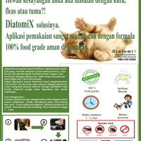 DiatomiX (Activated Diatomaceous Earth /DE for Natural Pets Insecticid