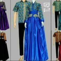 harga Sarimbit Batik Solo. Couple Gamis Batik Saphira Series Tokopedia.com