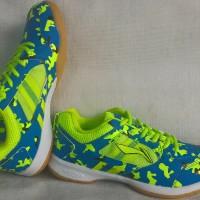 Sepatu Badminton Lining Li Ning Icon biru kuning original asli murah