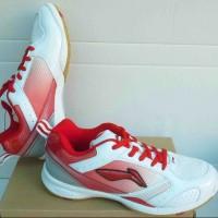 Sepatu Badminton Lining Li Ning star plus putih merah original murah