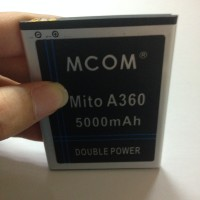 Baterai Mito BA-00104 Mito A360 Fantasy One Dobel Power Mcom 5000mah