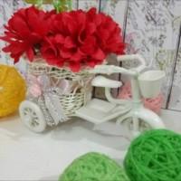 harga Hiasan Dekorasi Rumah Pajangan Vas Bunga Sepeda Keranjang Plus Bunga Tokopedia.com