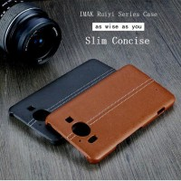 IMAK Ruiyi Series Luxury Genuine Leather Back Microsoft Lumia 950 XL
