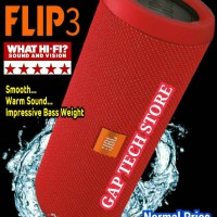 harga JBL FLIP 3 - Splashproof Portable Wireless Bluetooth Speaker (Red) Tokopedia.com