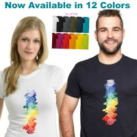 Jual FTSLU10 Kaos Chakra Couple Tee.Kaos Yoga Pilates Gym Namaste Spa Shirt Murah