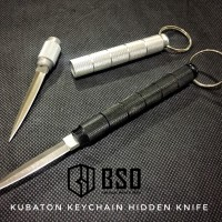 Kubaton tactical keychain hidden knife self defense aluminium