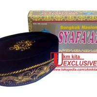 Songkok Bordir Emas | Kopiah Motif Gold | Peci Bludru | Kopyah Syafaat