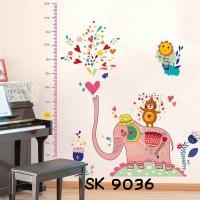 Jual Wall Stiker Uk.60x90 Wallsticker Pengukur Tinggi Badan Gajah Pink Murah