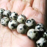 Batu Dalmation Jasper Natural Beads 8mm Bahan Gelang Import Murah