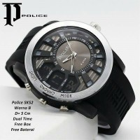 jam tangan pria Police dual time