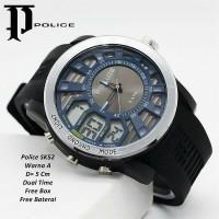 harga jam tangan pria Police dual time Tokopedia.com